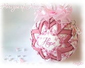 Longaberger Horizon of Hope Breast Cancer Awareness Unique Handmade Quilted Ornament