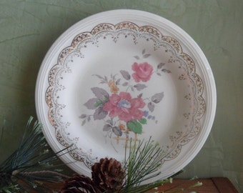 Edwin Knowles China Co. Red Climbing Rose Bread & Butter Plate  (T)