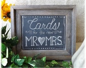 SALE - Barnwood Framed Chalkboard - 11x13 - perfect for your wedding or home decor - Made and ready to ship