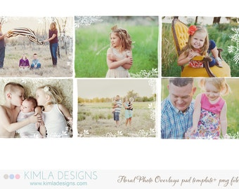 Floral Photo Overlays PSD Templates for Photographers