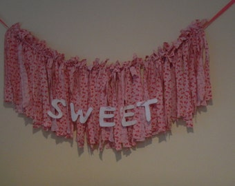 Nursery or little girls garland  Sweet