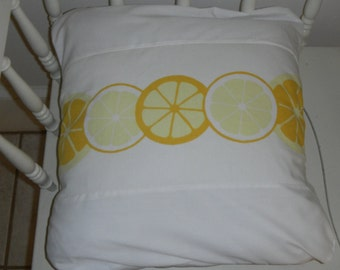"Beautiful lemon pillow cover  16""   deep envelope closure for full insert"