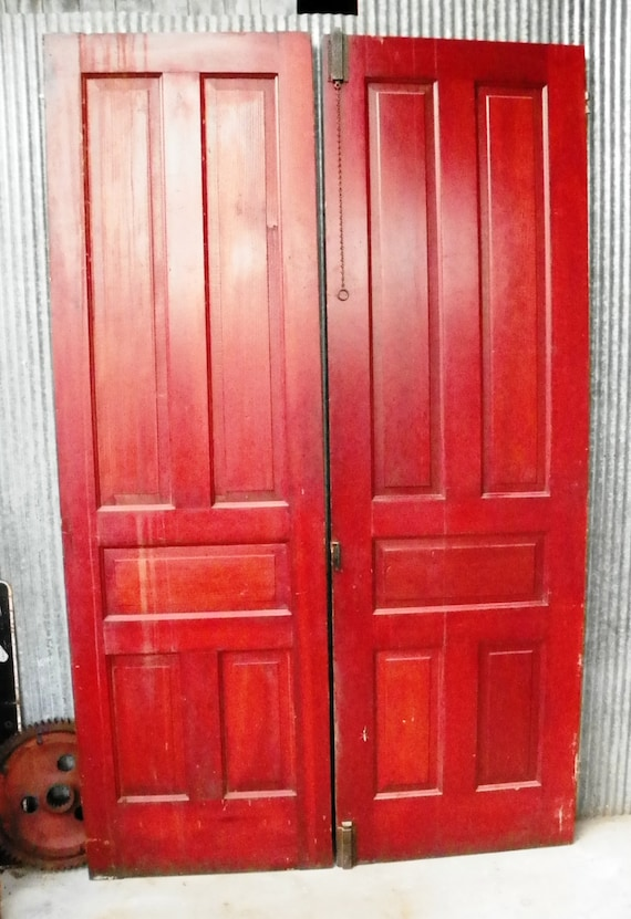 Vintage antique 1800 39 s double door library 8 foot by hippiehog - 8 foot tall interior french doors ...