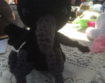 Raven crocheted doll