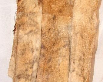C-39 Genuine brown Fur Coat Jacket Great Condition