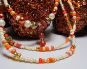 "Waist Beads - ""Canyon Sunset"" - Beautiful Carnelian Single Strand Waist Beads or Necklace"