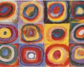 Wassily Kandinsky Quadrate Counted Cross Stitch Pattern Chart PDF Download by Stitching Addiction