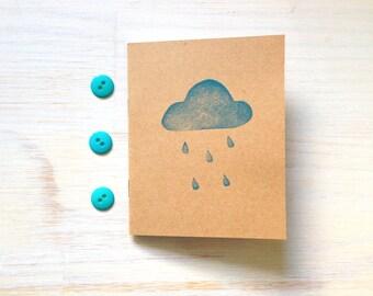 Notebook: Rain Cloud, Journal, Cute Notebook, Kids, Portland, Cute, Blue, For Her, For Him, Stocking Stuffer, Unique, Gift, M4-KR10/11x5blue