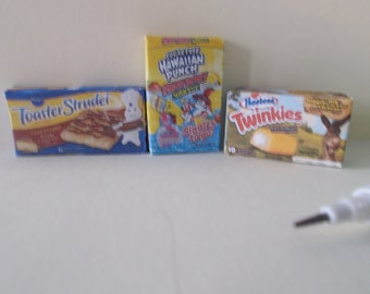 M-26      Minature set of 3 Food for Barbie and dollhouses