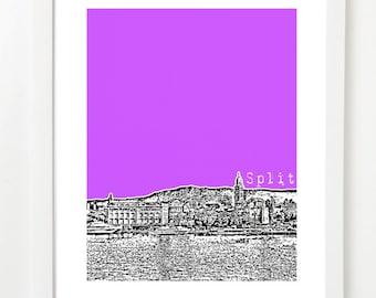 Split Skyline Poster - Split Croatia - City Skyline Series Art Print - VERSION 2