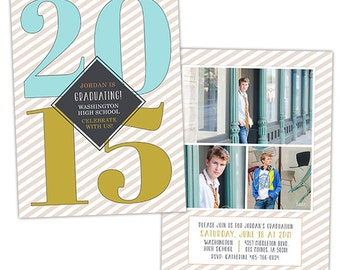 Senior Graduation Announcement Photo Card Template for Photographers - Photoshop Templates for Photographers - Photo Card Template - GD129