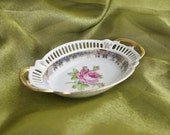 Small Dresden China Candy Sweets Plate Dish