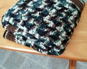 c2c-Corner Stitch Camo Baby Blanket Crochet Pattern- PDF Tutorial