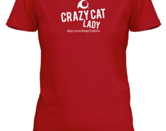 Cattino Brand Crazy Cat Lady T-Shirt