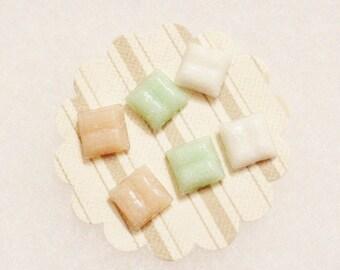 Small Pastel Stud Earrings Set Of Three