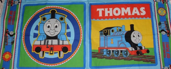 Thomas the Train fabric panel with 2 pillow squares 100% cotton new