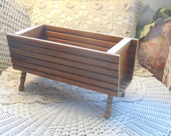 Wooden Log Looking Planter :)