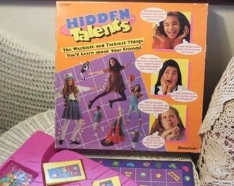 1994 Hidden Talents Pressman Game 1994, Vintage Board Games, Board Game Group Game, Slumber Party,