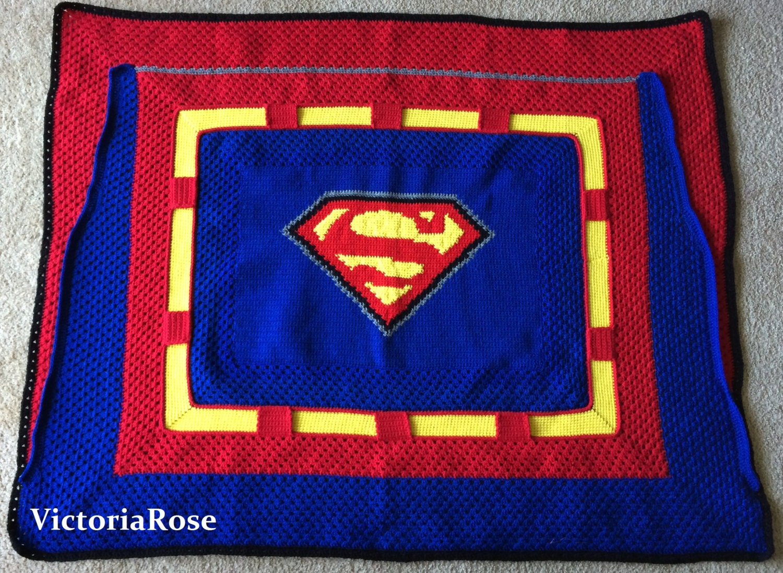 Crochet Superman Blanket Pattern Only
