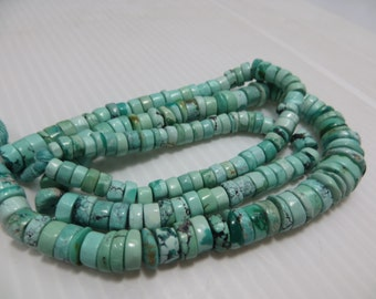 265 CRT 22 Inches necklace Natural Color And Natural Stone Tibetan Turquoise Plan Beads Good Quality Size 6 mm To 11 mm Approx