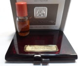 Max Factor Geminesse Pure Perfume .25 Fl. Oz Sample and Pressed Powder Compact Fragrence and Beauty Set