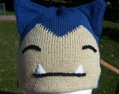 Snorlax Blue Beanie Hat - Medium