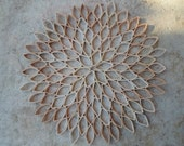 Dahlia wall decoration Paper wall hanging Trendy wall art Large round wall decor