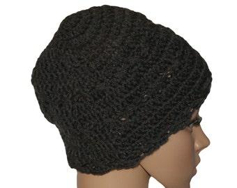 Knit Hat, Womens Hats, Winter Hat, Winter Beanie, Black Hat, Crochet Hat, Beanie Hat, Womens Beanie, Ladies Winter Hat, Slouch Beanie
