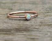 Opal Ring - Tiny natural opal ring