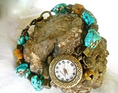 Watch Turquoise Southwest Inspired Tibetan Bronze Beads Tiny Bell Star Daisy Beads African Trade Beads Trending Colors