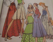 RESERVED  Vintage 1970's Butterick 4089 Betsey Johnson of Alley Cat Skirts Sewing Patterns, Waist 24