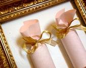 Blush and Gold Wedding Cracker