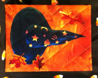 Quilted Halloween Postcard