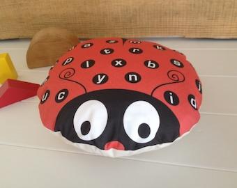 Children's Alphabet Ladybird Cushion