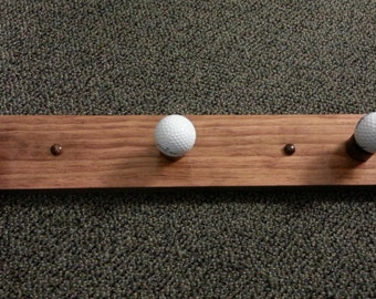 Golf Ball Coat Rack 3 hook