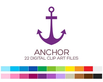 Nautical Clipart Nautical Clip Art Anchor Clipart Anchor Clip Art Digital Clipart Nautical Stickers Planner Stickers Nautical Baby - A00046