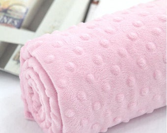 Minky Dimple Dot - Light Pink - By the Yard 43052 Melody Series