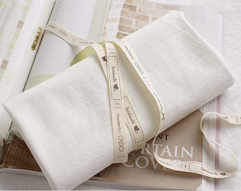 """Prewashed Cotton Fabric - White Ivory - 59"""" wide - By the Yard 44308"""