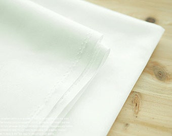 "Solid Cotton Fabric - White Ivory - 62"" Wide - By the Yard 53512"
