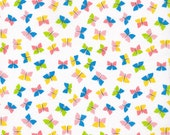 SALE--BUTTERFLIES--Picture Pie--Ed Emberley--Certified Organic Cotton--price is per yard