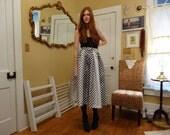 Esque. Whimsical 1950's-1960's Style Handmade Gradient Polka Dot Tea Length or Maxi Cocktail Bridesmaid Birthday Party Skirt