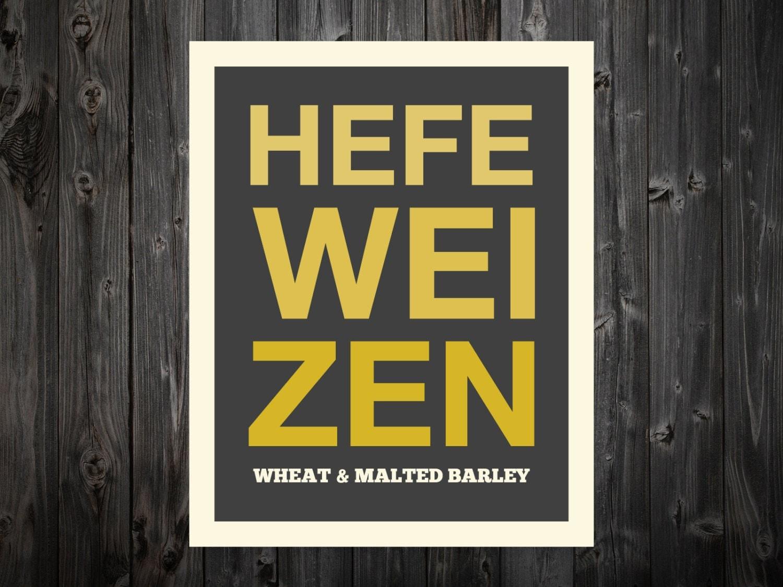 Hefeweizen, Hefeweizen Print, Craft, Beer Art, Beer Print, Beer ...