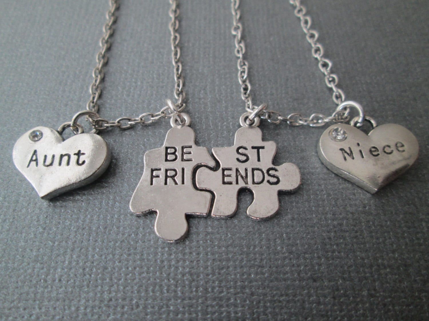 best friends puzzle piece aunt niece necklaces set