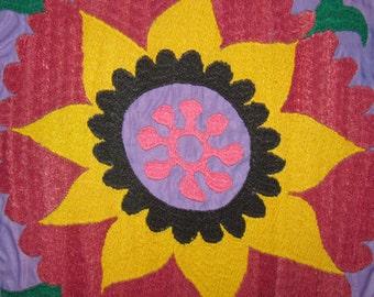 Vintage Uzbek Hand Embroidered Oyna Halta