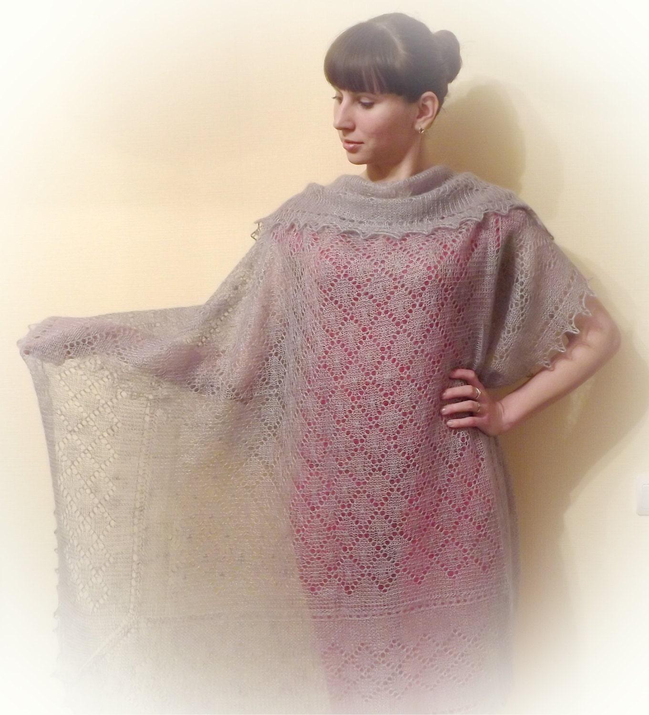 Knitting Shawl Russian : Orenburg down hair knitting shawl warm gossamer