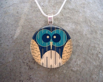 Owl Jewelry - Glass Pendant Necklace - Owl 4 - PRE-ORDER