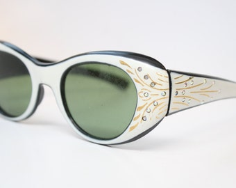 Vintage Eyeglass Frames Unique Rhinestone Sunglasses Eyeglass Frames Retro Eyeglasses