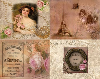 Digital Background, Digital Paper Pack, Digital Vintage Background  No. 877