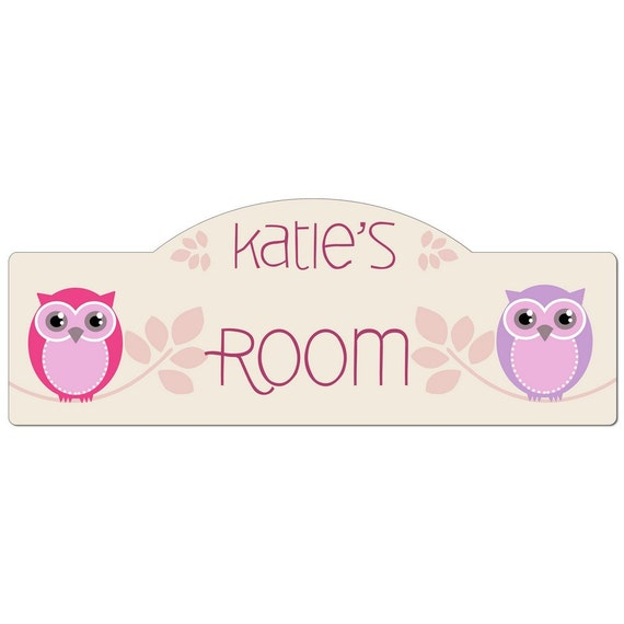 Personalized Owl Bedroom Door Sign By MemorableGift On Etsy