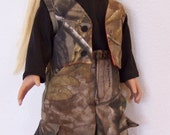 Made to Order for Jim - American Girl Doll Clothes - 2 piece hunting outfit - Cargo pants & Reversible Vest - 18 inch doll